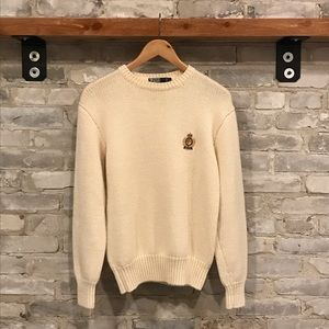 Vintage Polo Ralph Lauren Wool Crest Sweater